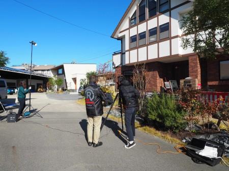 ユートピア建設のモデルハウスが撮影に使用されました!
