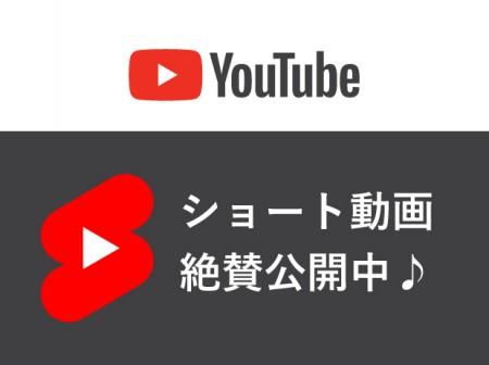 YouTubeショート動画、絶賛公開中です!